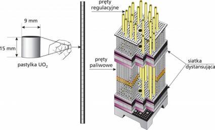 Pręty paliwowe reaktora PWR