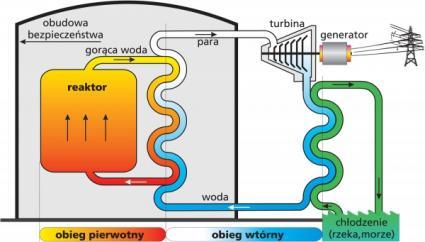 Schemat reaktora PWR